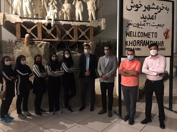 بازدید ورشکاران و اعضای فدراسیون از موزه دفاع مقدس